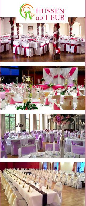 Hochzeitsdeko, Tischdecken & Hussenverleih in Stuttgart
