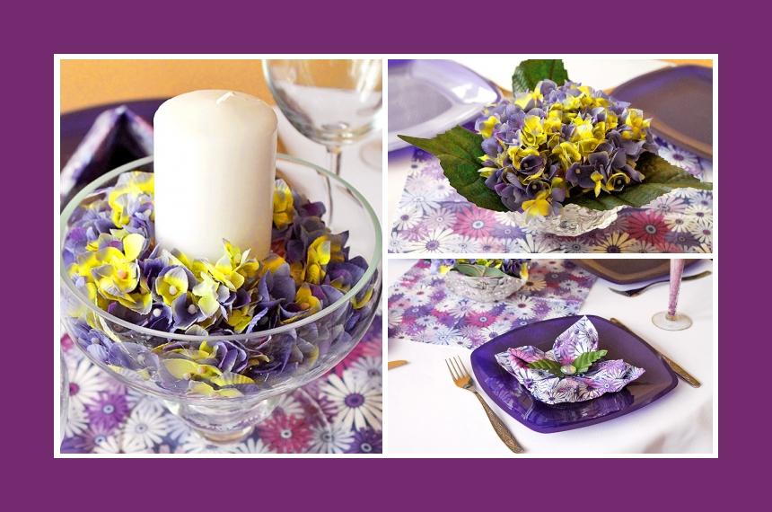 Deko Idee Geburtstag Kerze Veilchen