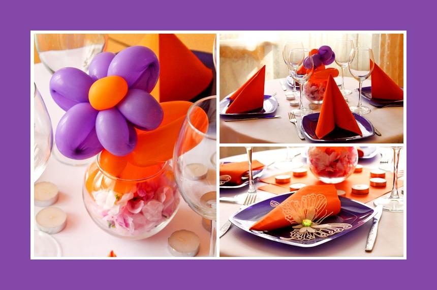 Deko Idee Gebutstag Luftballon Lila Orange