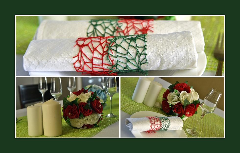 Deko Idee für eine sommerliche Hochzeitsfeier in Rot-Grün