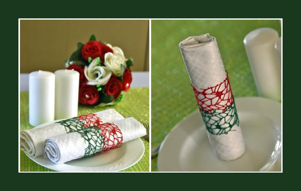 Deko Idee Hochzeitsfeier Sommer Serviettendeko Rosen Rot