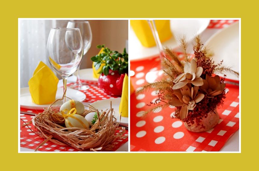 Deko Idee Ostereier Tischdeko Osternest