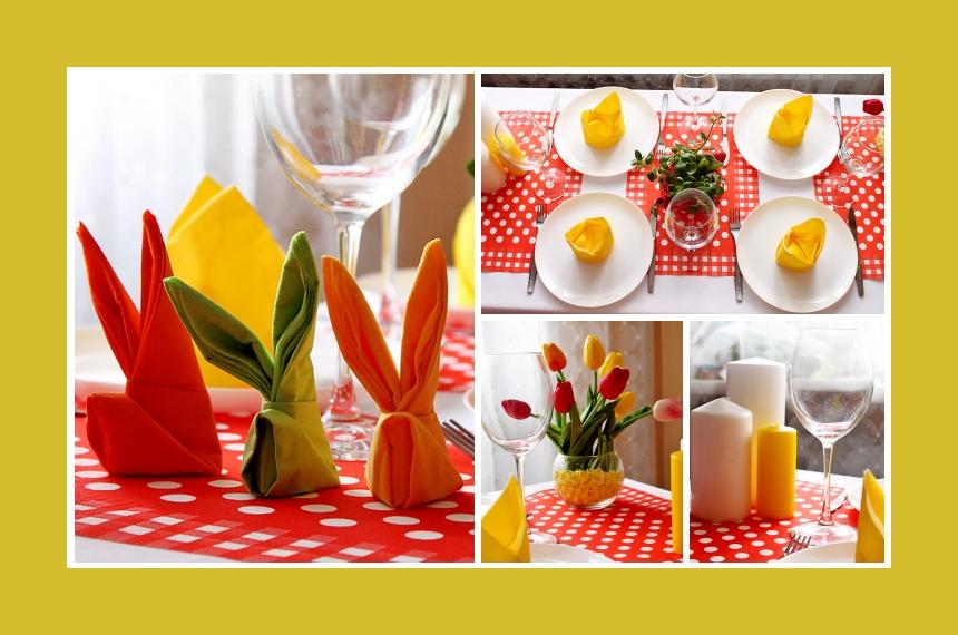 Deko Idee Osterhase Tulpen
