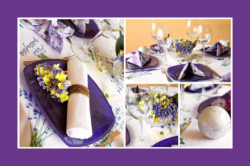 Deko Idee Provence Hochzeit Lila Gelb Veilchen