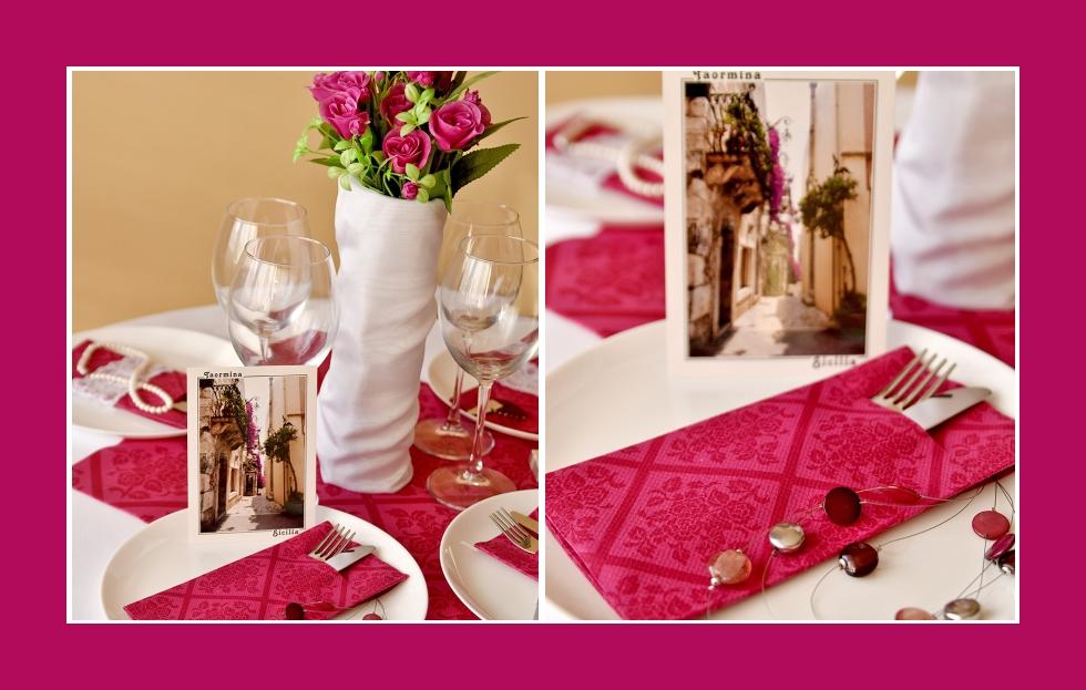 Deko Idee romantisches Abendessen in Rosa