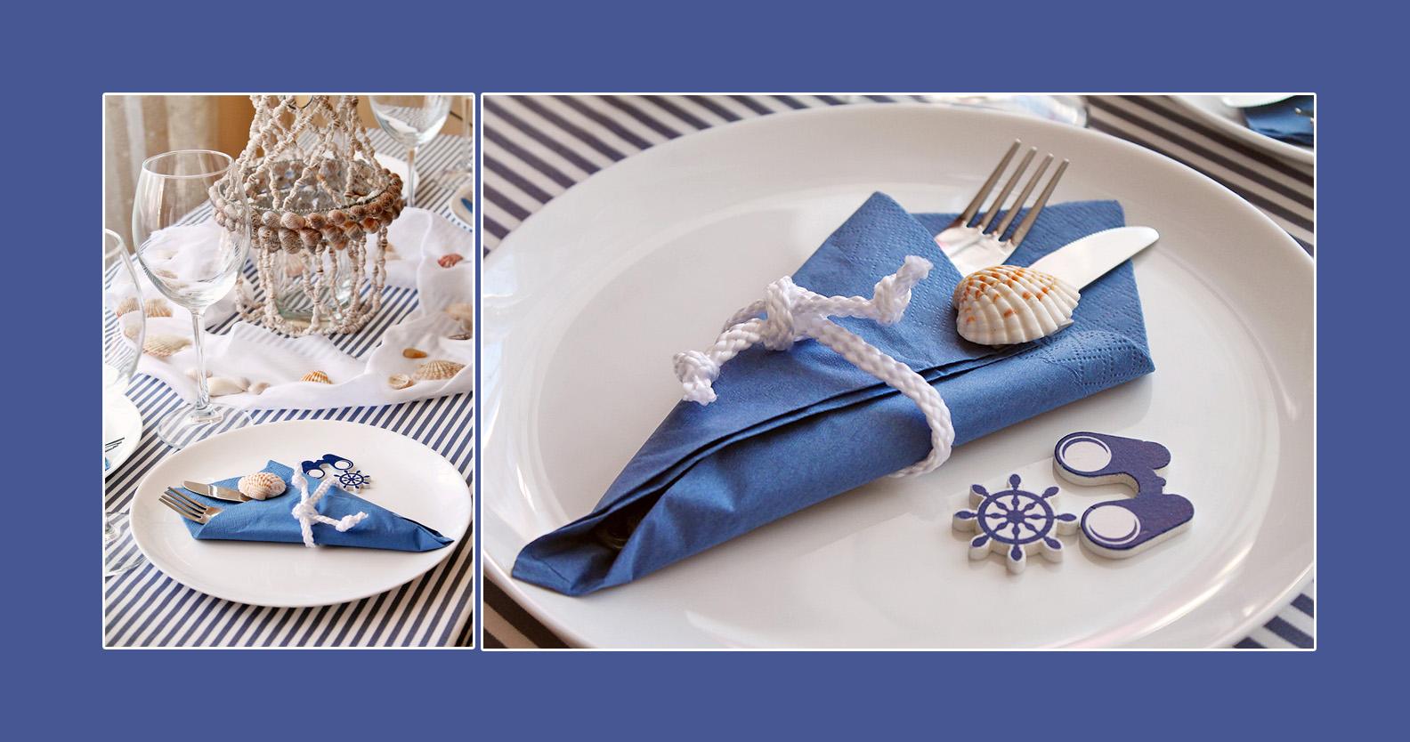 Maritime Deko Idee in Blau-Weiß