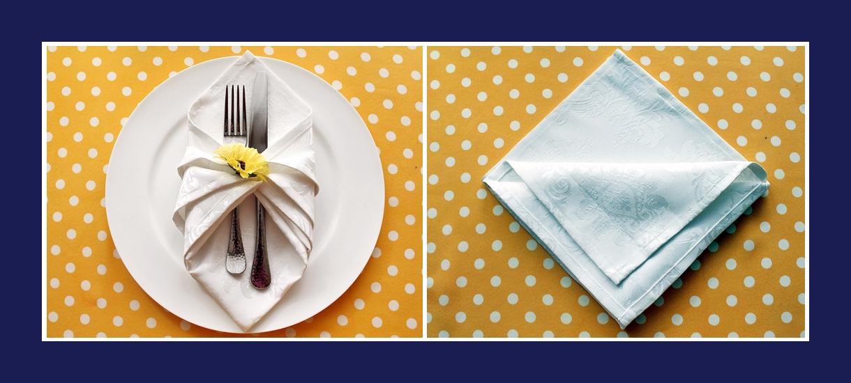 Servietten falten Bestecktasche aus Stoffserviette 3