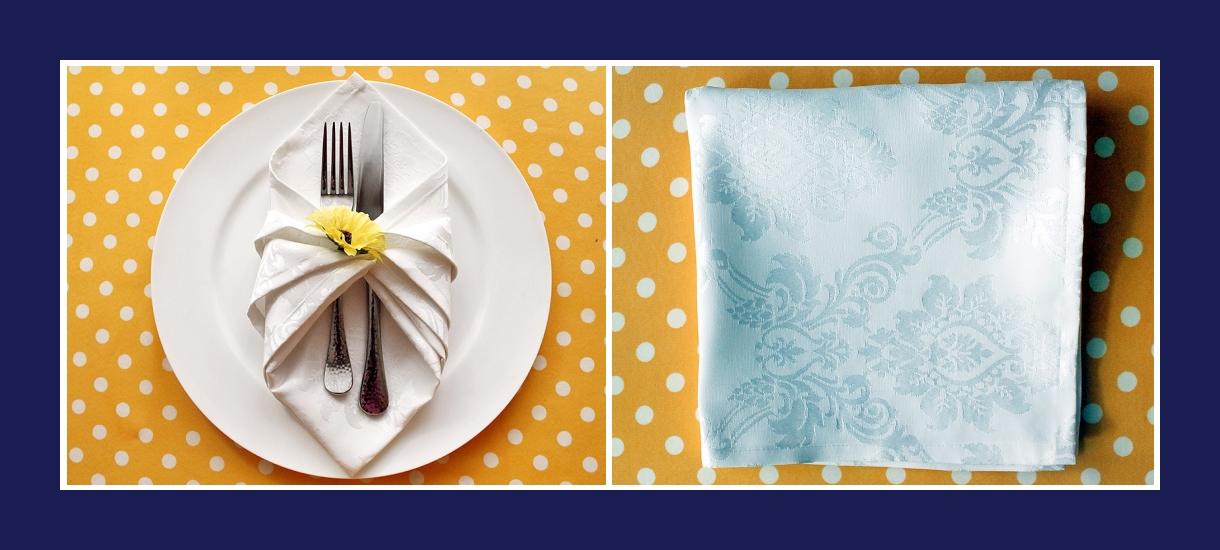 Servietten falten Bestecktasche aus Stoffserviette Anleitung 1