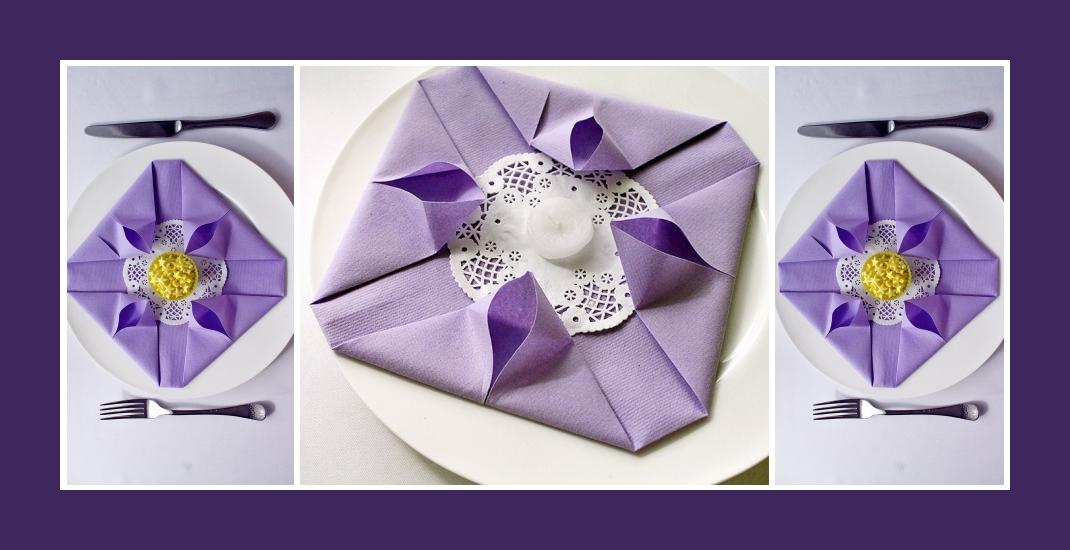 Servietten falten elegant Ostern 5
