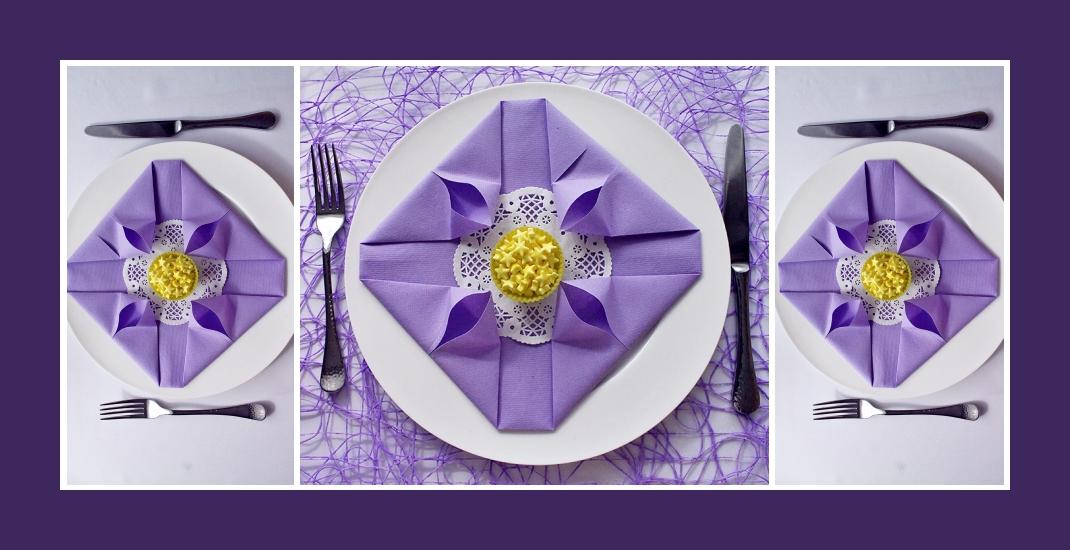 Servietten falten elegant Ostern 8