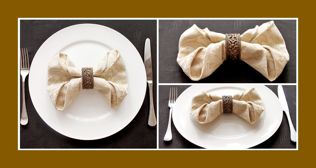 Servietten falten Hochzeit Schleife 9