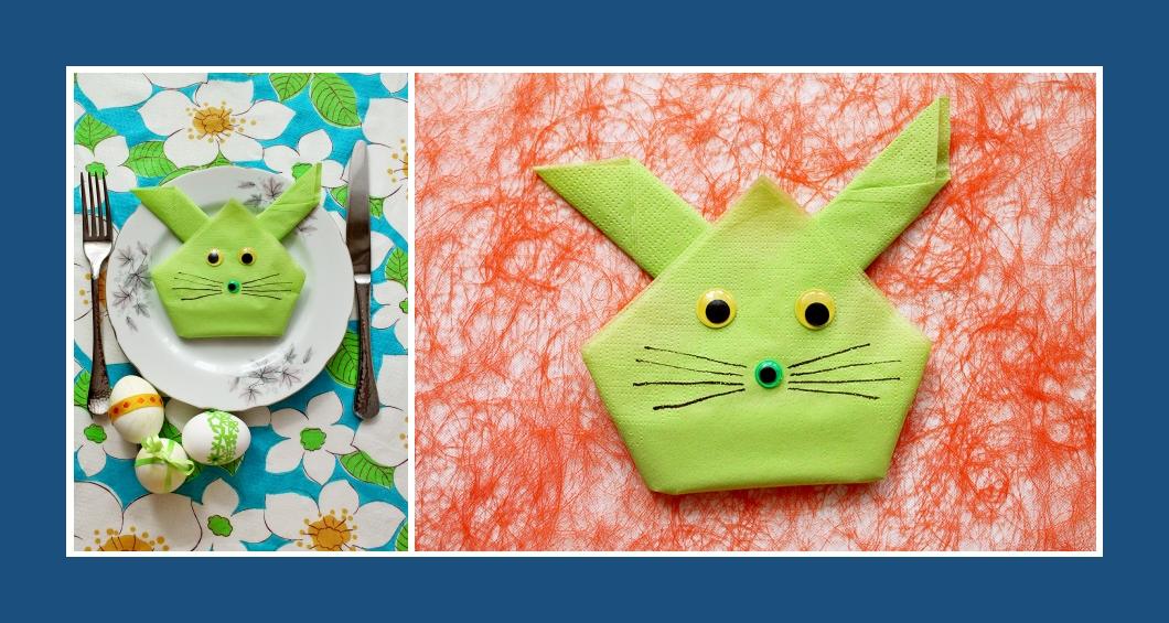 Servietten falten Katze Kindergeburtstag 6