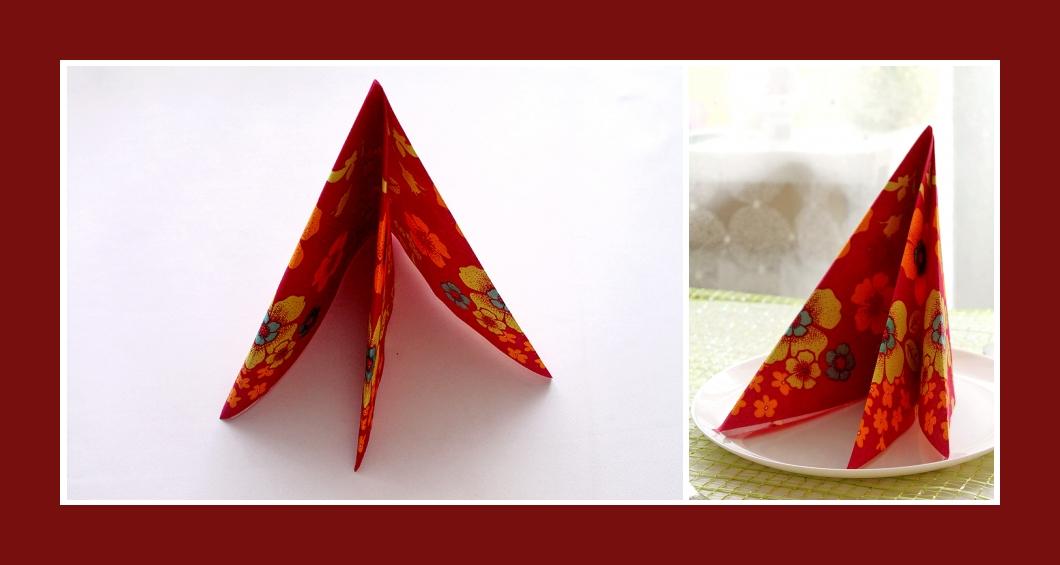 Super Servietten falten einfach: Pyramide oder Tafelspitz AX51