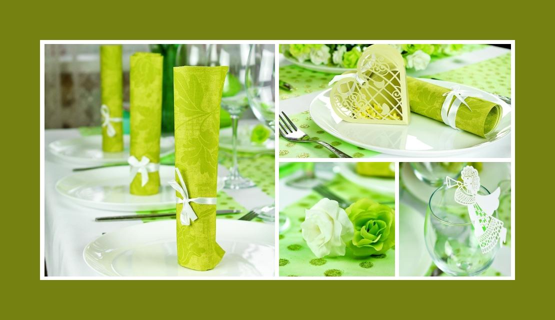 Deko Idee Hochzeit Oliv Rosen Engel Tischdeko