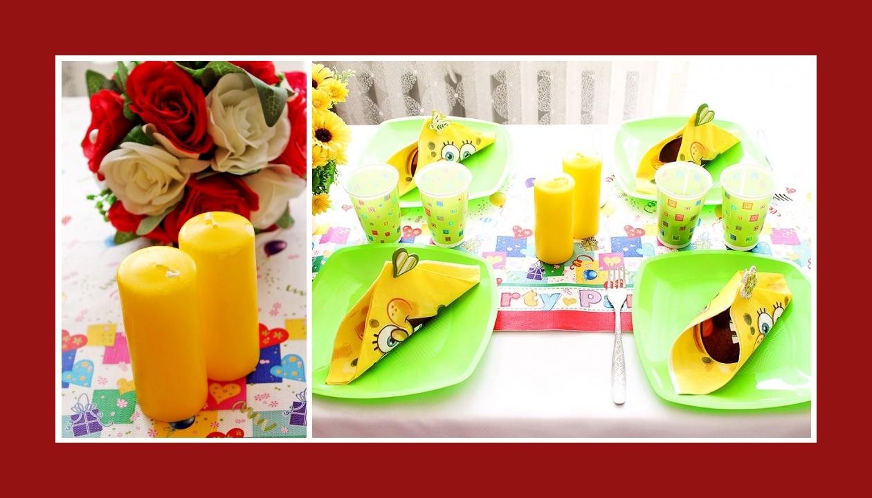 Deko Idee Kindergeburtstag Gelb Servietten