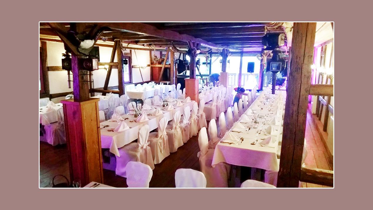 Deko - Hochzeit im Gasthof Neu-Schenke bei Zwickau, Plauen, Jena, Gera