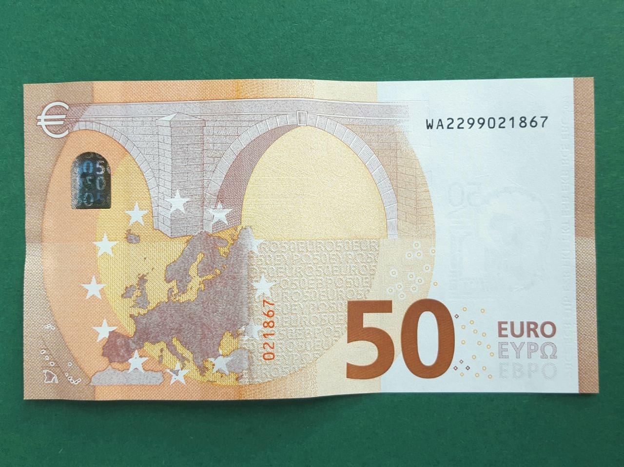 50 Euro Schein neu falten