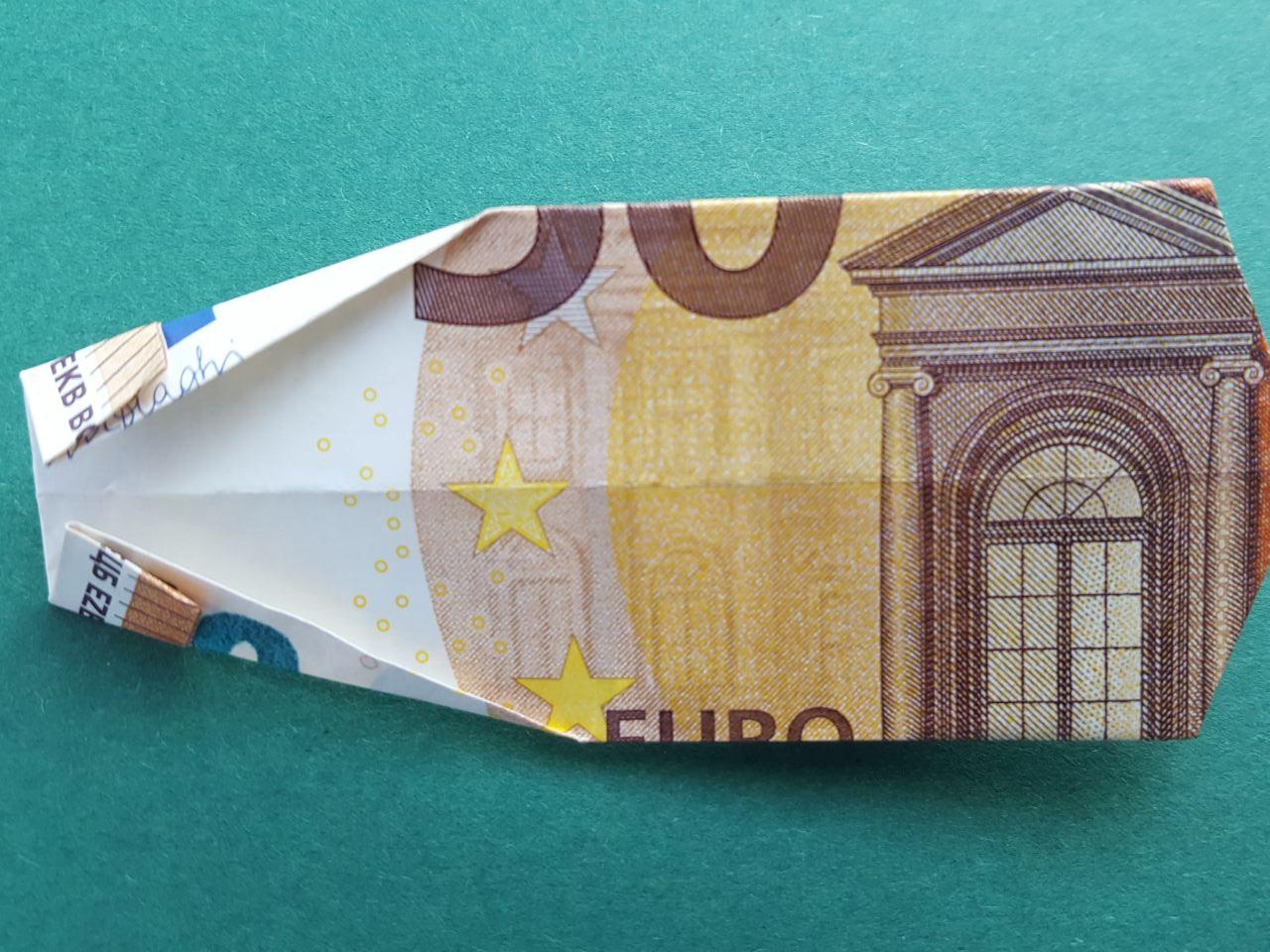 50 Euro Geldschein falten Schritt 12