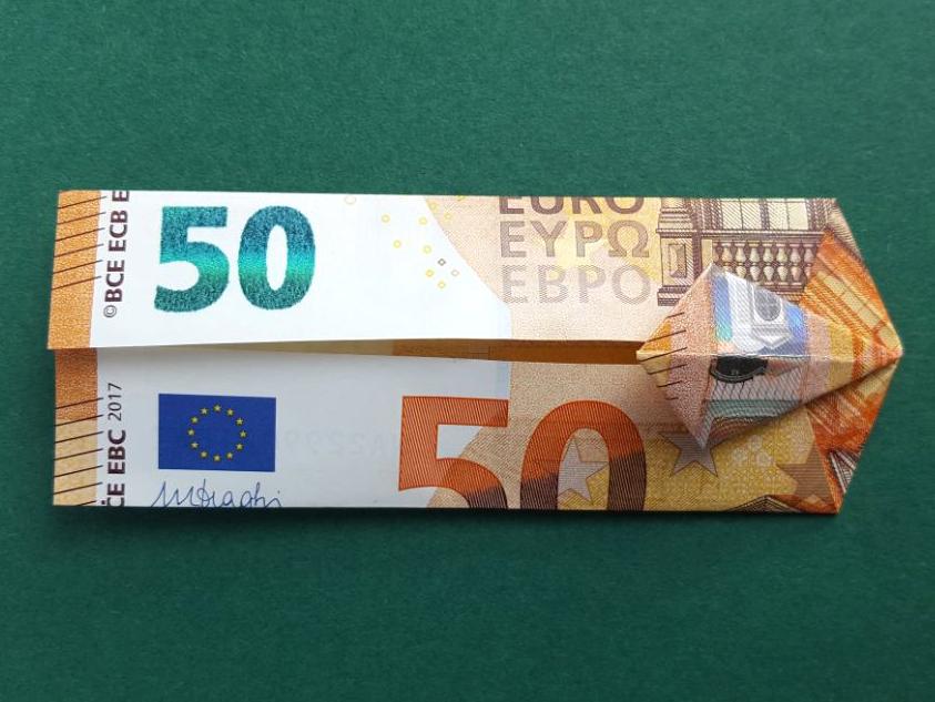 50 Euro Geldschein falten Schritt 10