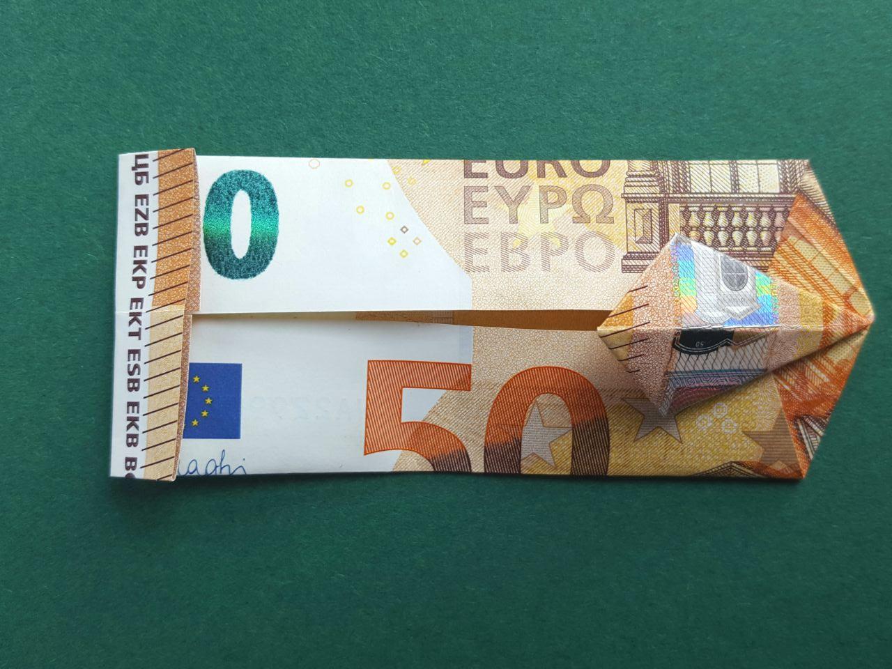 50 Euro Geldschein falten Schritt 11