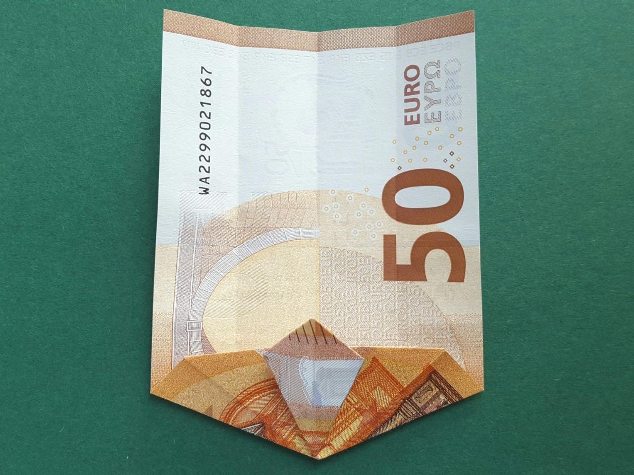 50 Euro Geldschein falten Schritt 9