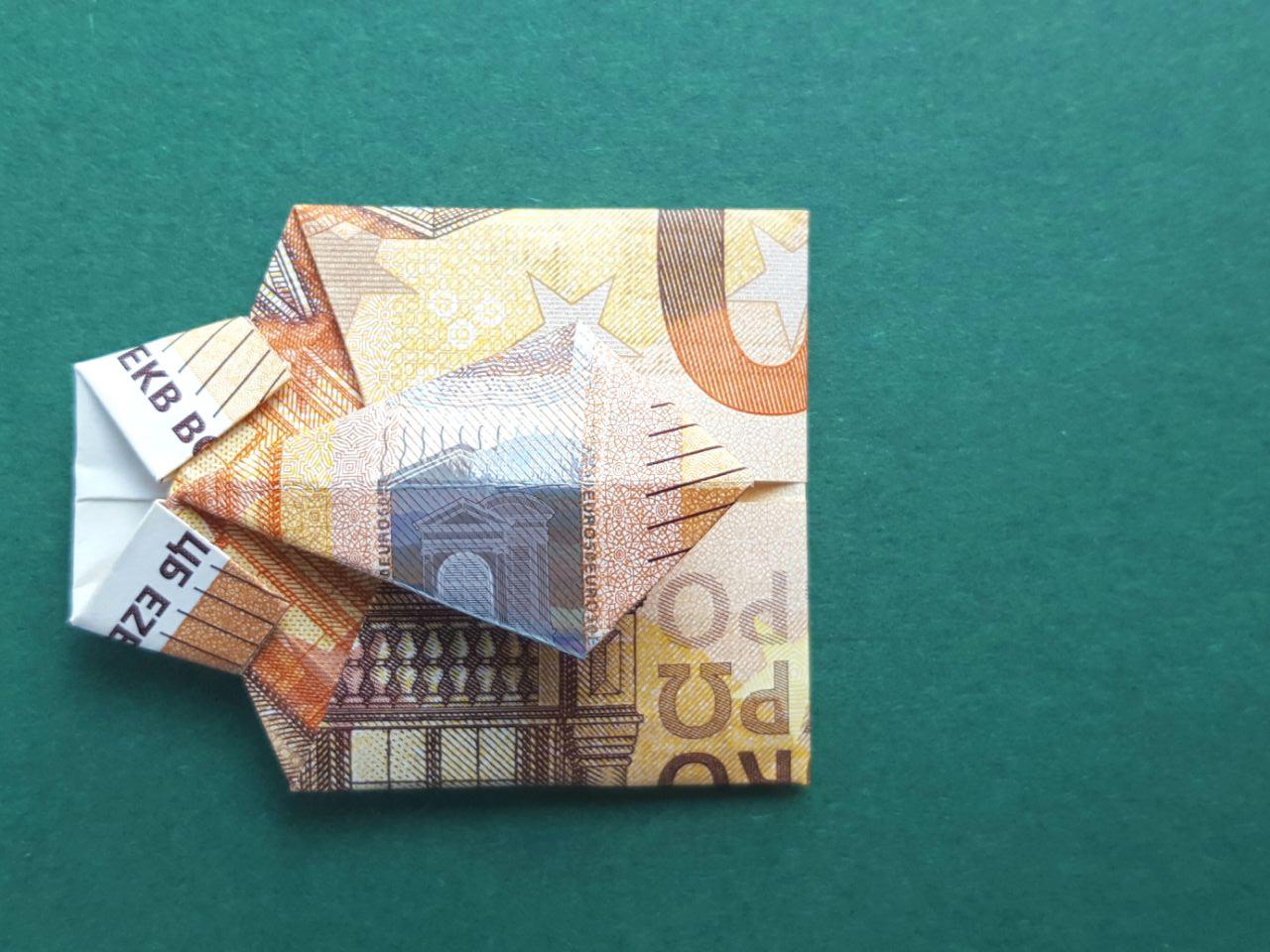 50 Euro Geldschein falten Schritt 13