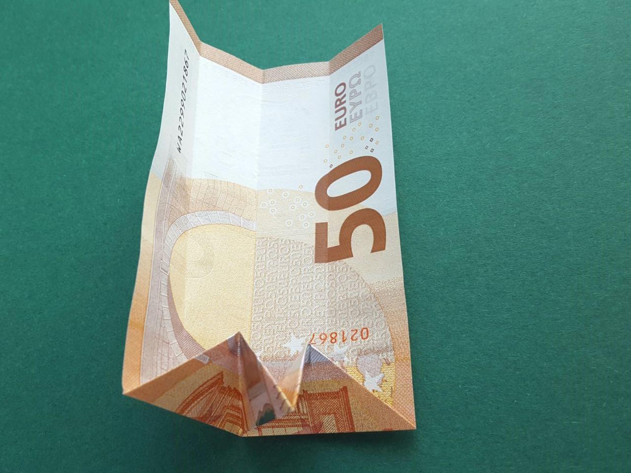 50 Euro Geldschein falten Schritt 7