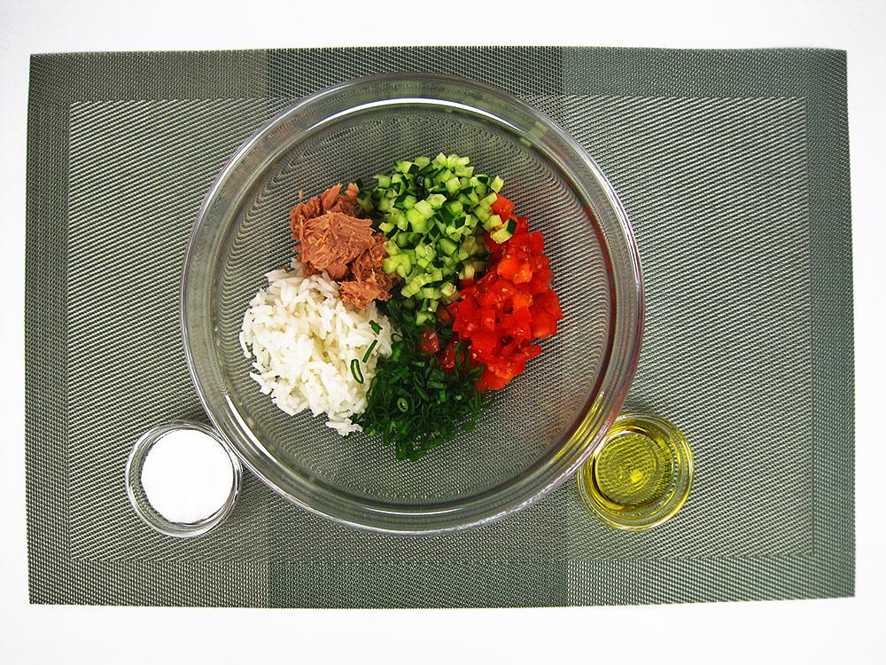 Salat mit Öl